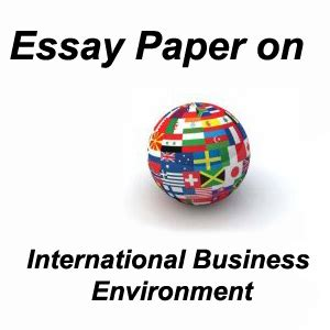 Essay about international business